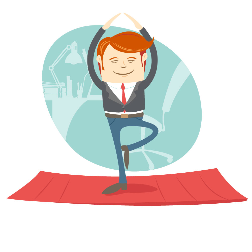 We offer yoga classes every Thursday at the office!