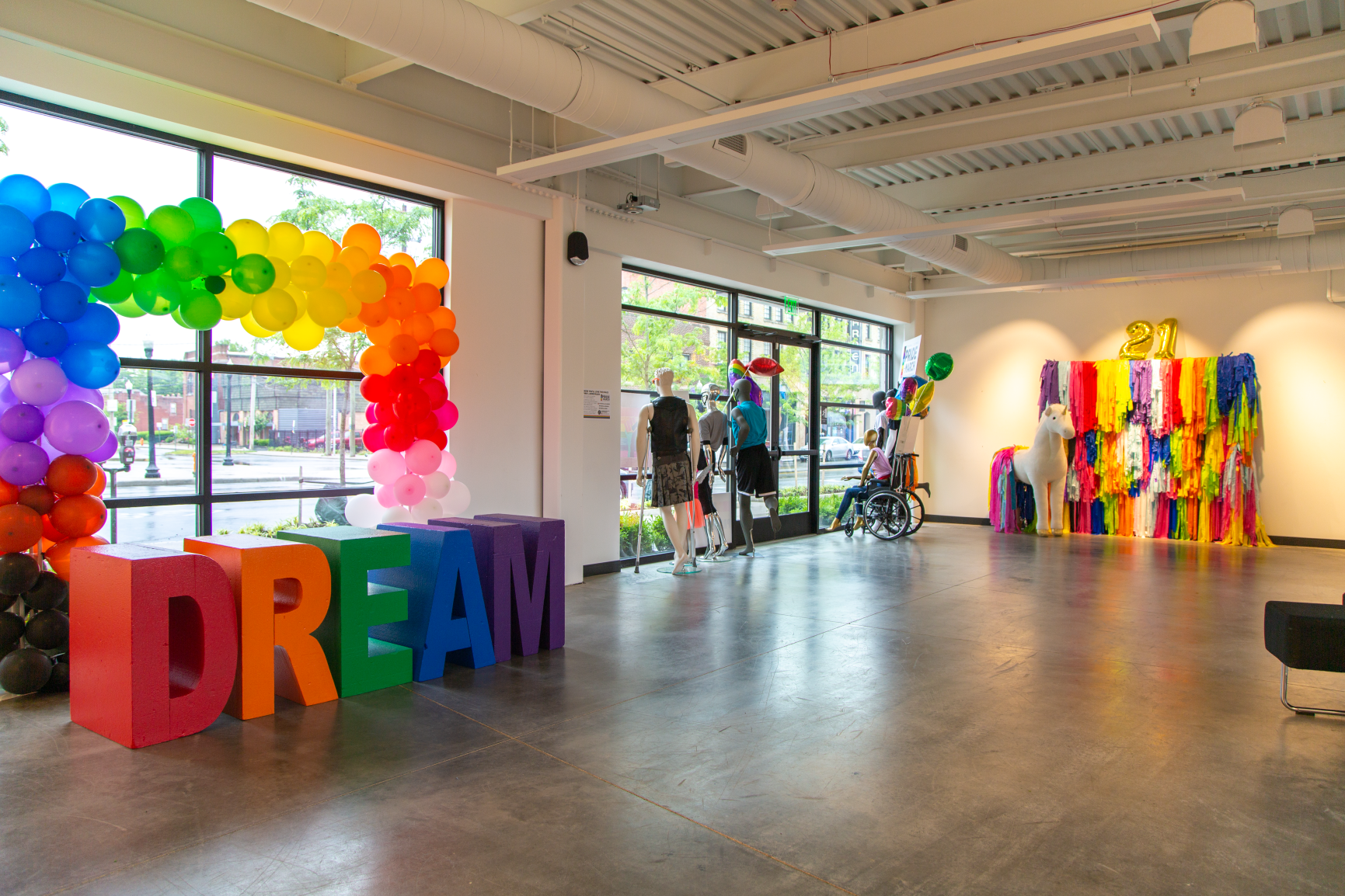 This large open space serves as a great place for photos with a fun background at Stonewall Columbus Community Center by Continental Office Branding