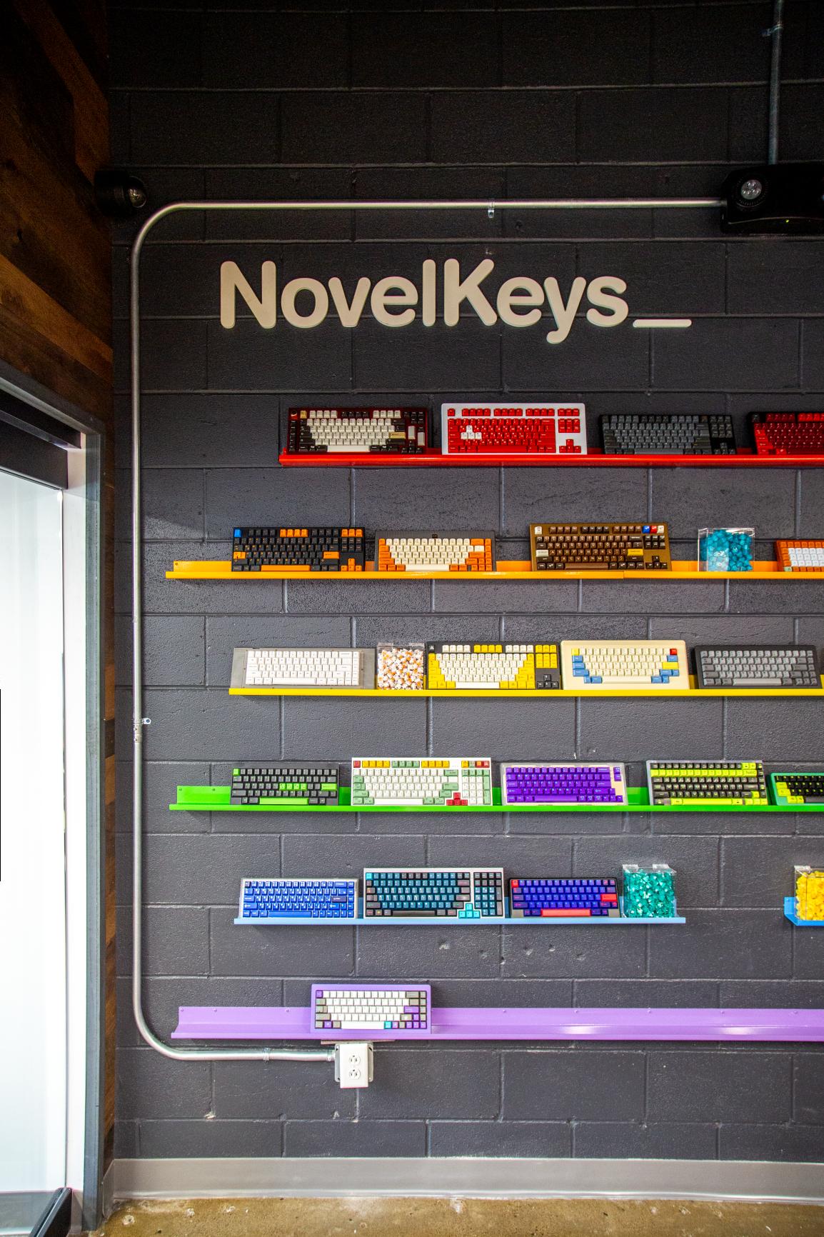 novelkeys keyboard display vertical