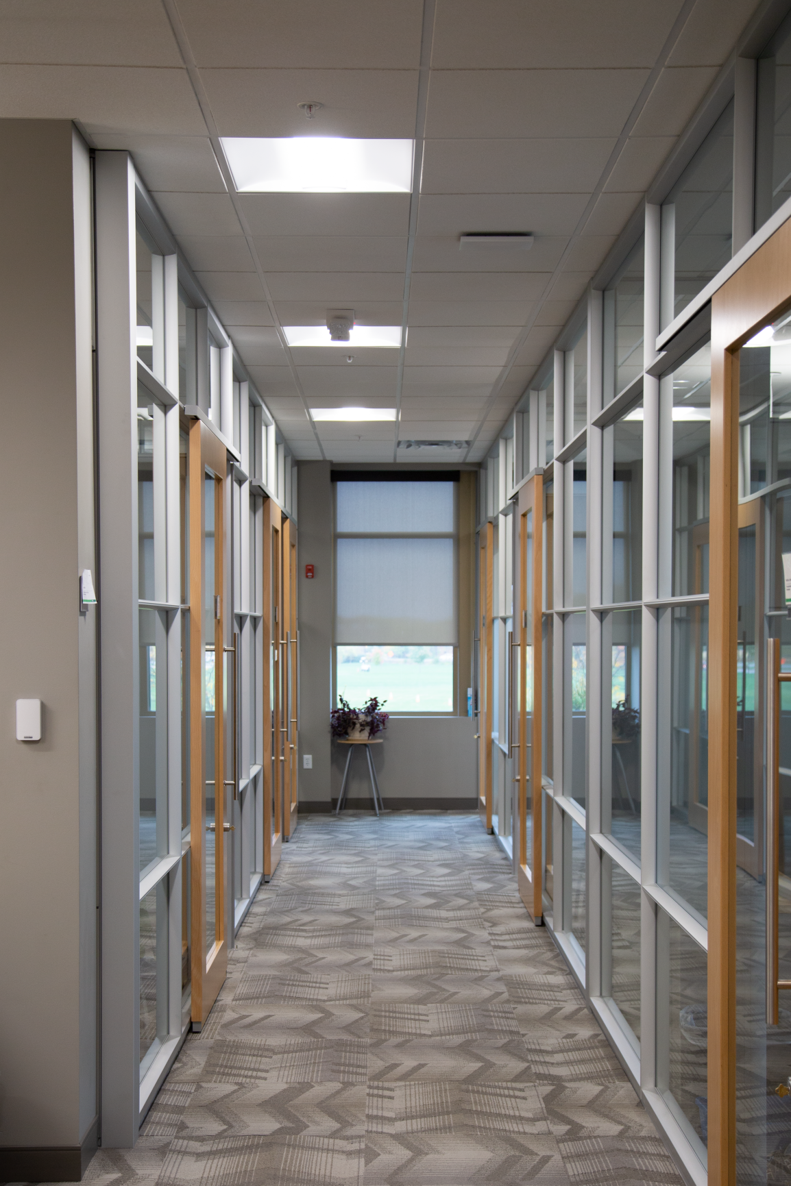 Gorgeous DIRTT interior construction with glass walls and sliders for the City of Dublin City Hall by Continental Office