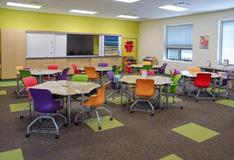 Sucessful schools add bright, comfortable furniture to their classrooms