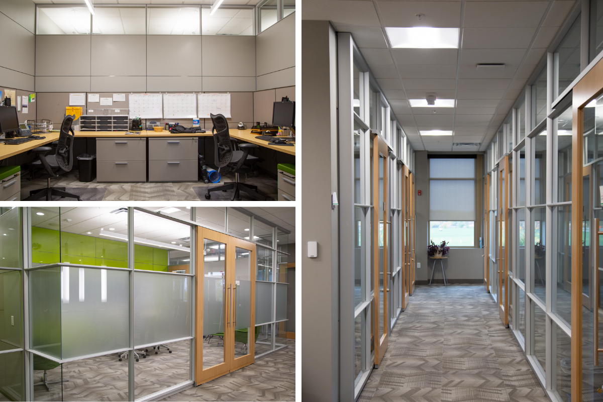 DIRTT interior construction, Flooring, and Herman Miller Furniture helped tie together this space for the City of Dublin City Hall by Continental Office