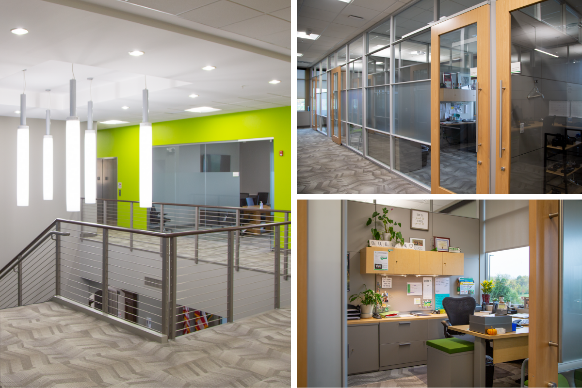 DIRTT interior construction, Flooring, and Herman Miller Furniture helped tie together this space for the City of Dublin by Continental Office