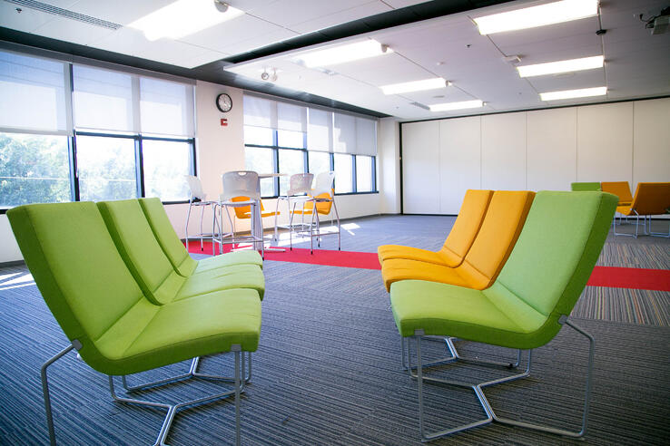 Clark Hall transformed from a traditional classroom to one that is open and collaborative