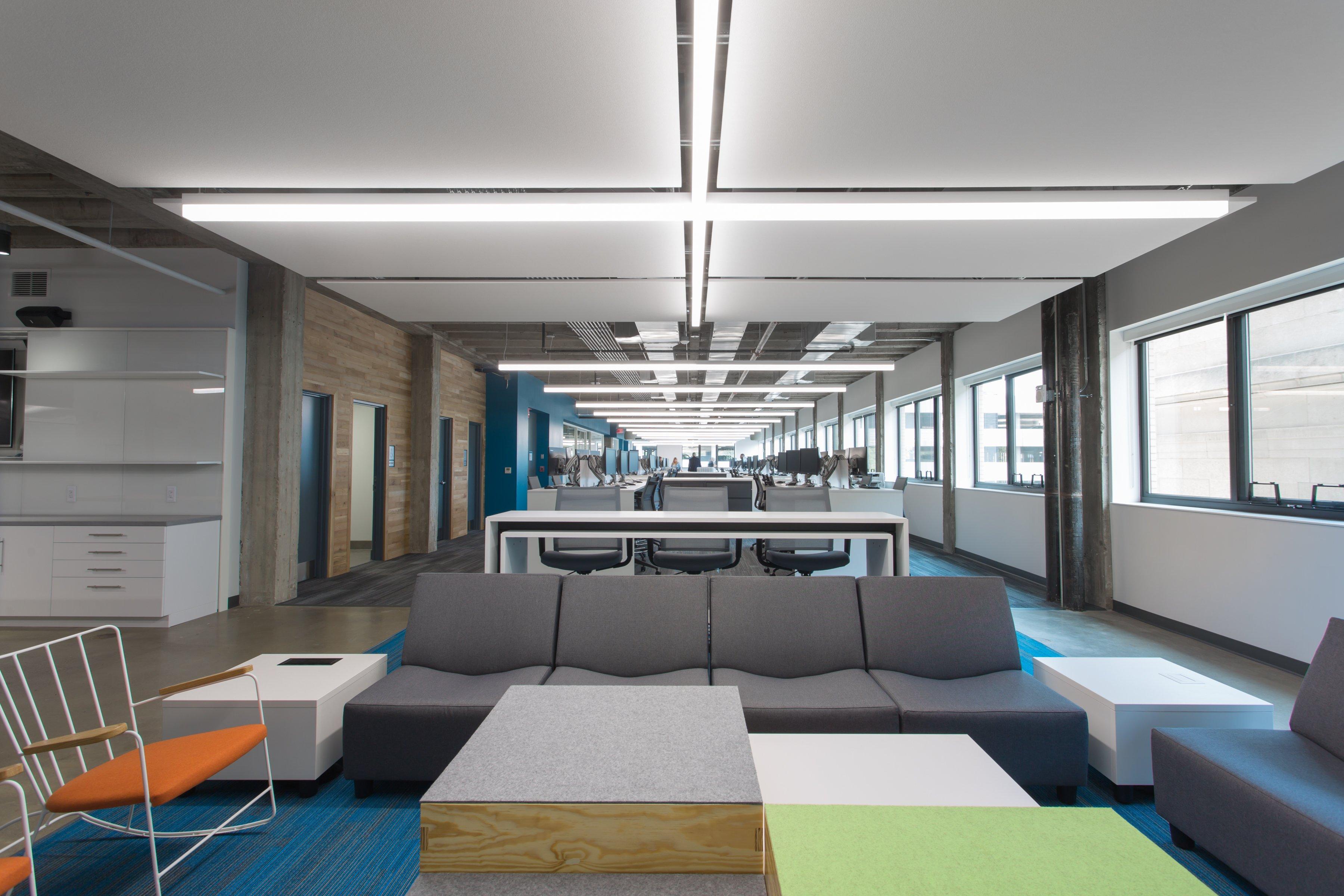 Encova Mutual Insurance Columbus OH office furniture interior open-concept