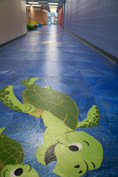 One-of-a-kind ocean-themed floor!