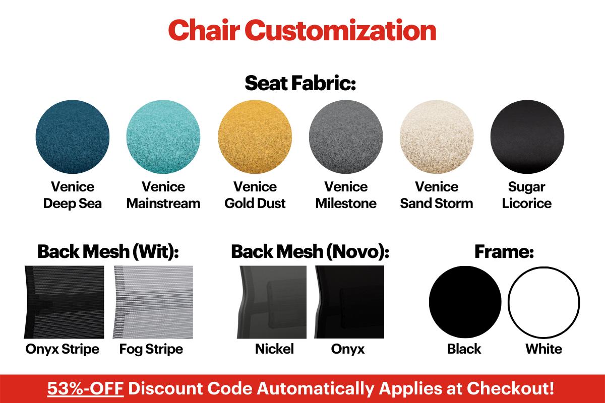 SitOnIt Chair Customization Options