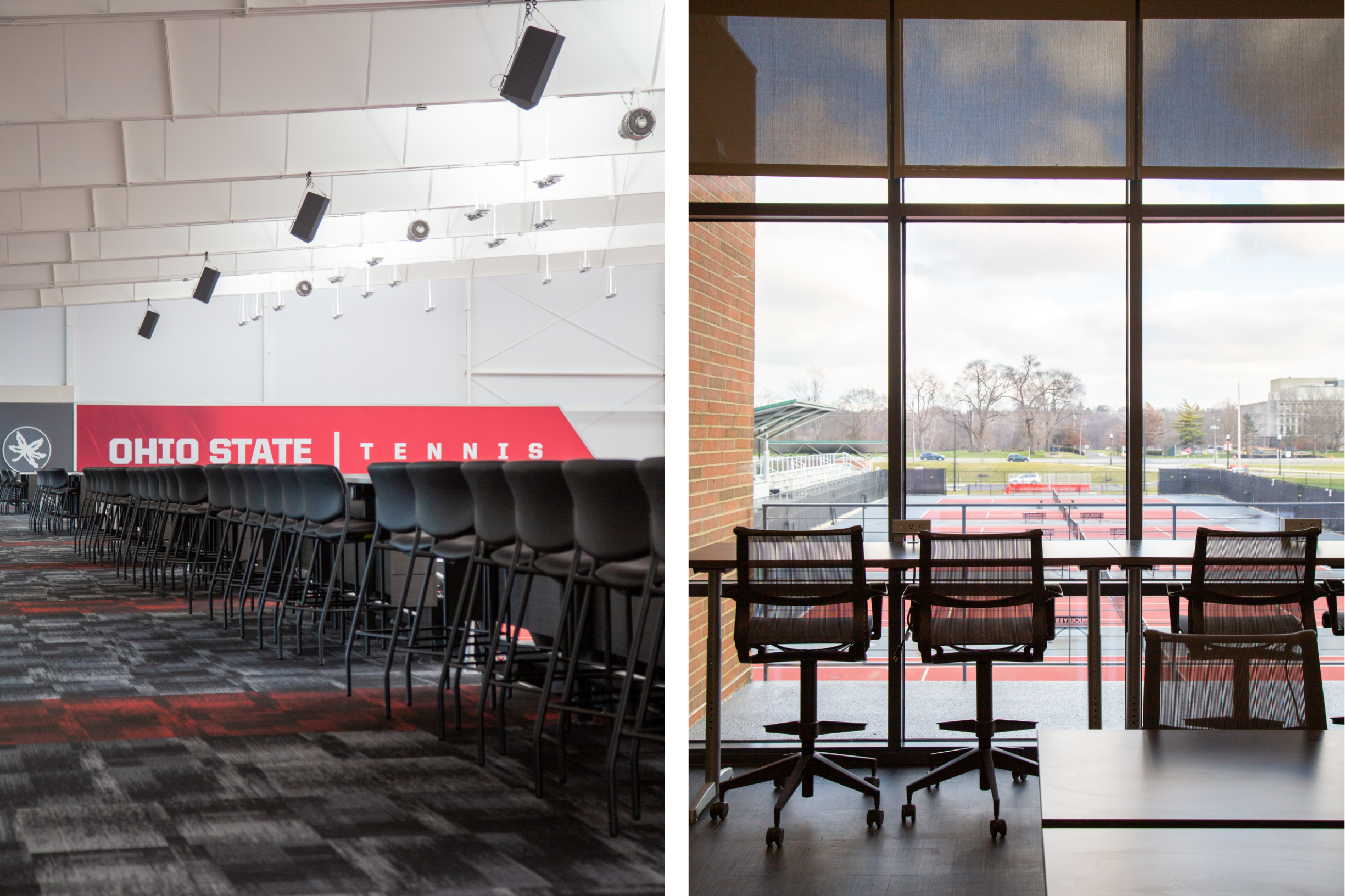 Ty Tucker Tennis Center at The Ohio State University with furniture by Continental Office