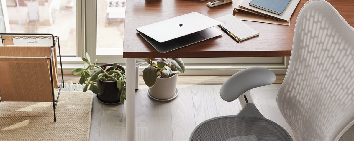 WFH setup with Herman Miller Aeron and OE1 Table by Continental Office