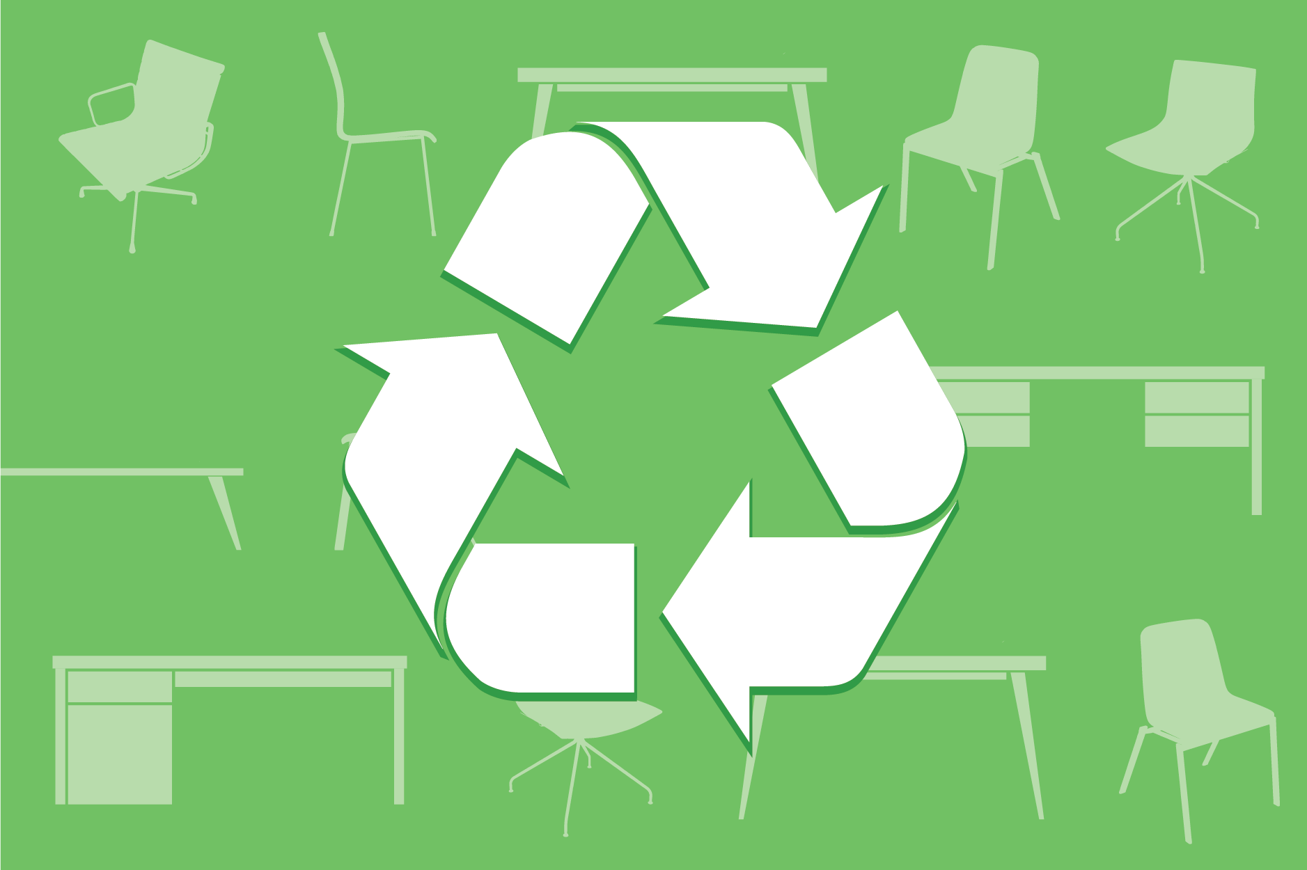 Recycle unused furniture to make room for new needs and uses in your workspace continental office