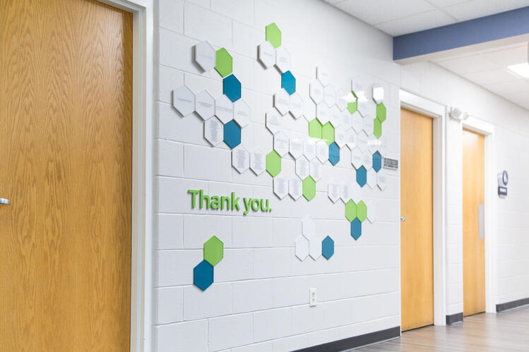 Maryhaven was able to recognize different levels of donors while bringing dimension to their space.