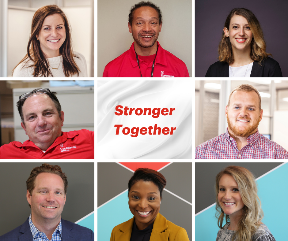 Collage of Associates Stronger Together for Careers at Continental Office