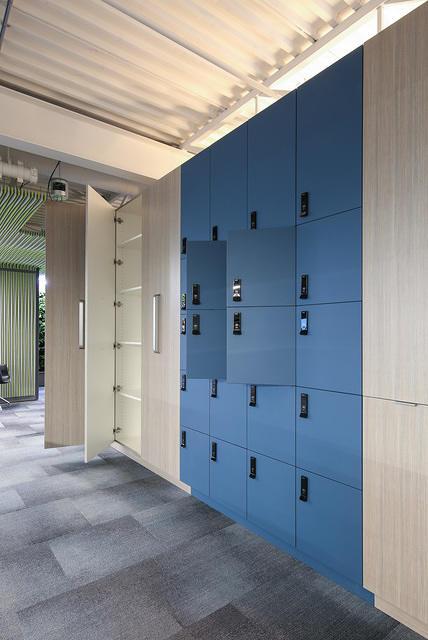 Millwork secure lockers